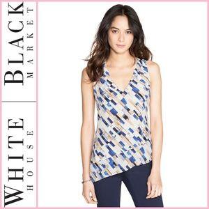 WHBM Sleeveless Patterned Silk Top